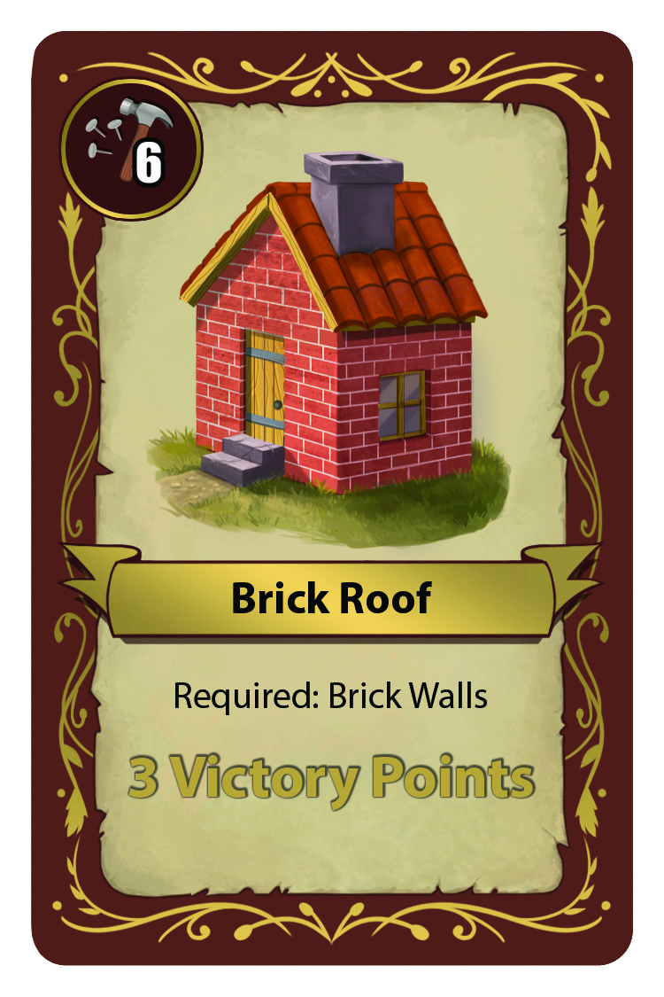 Brick Roof Card