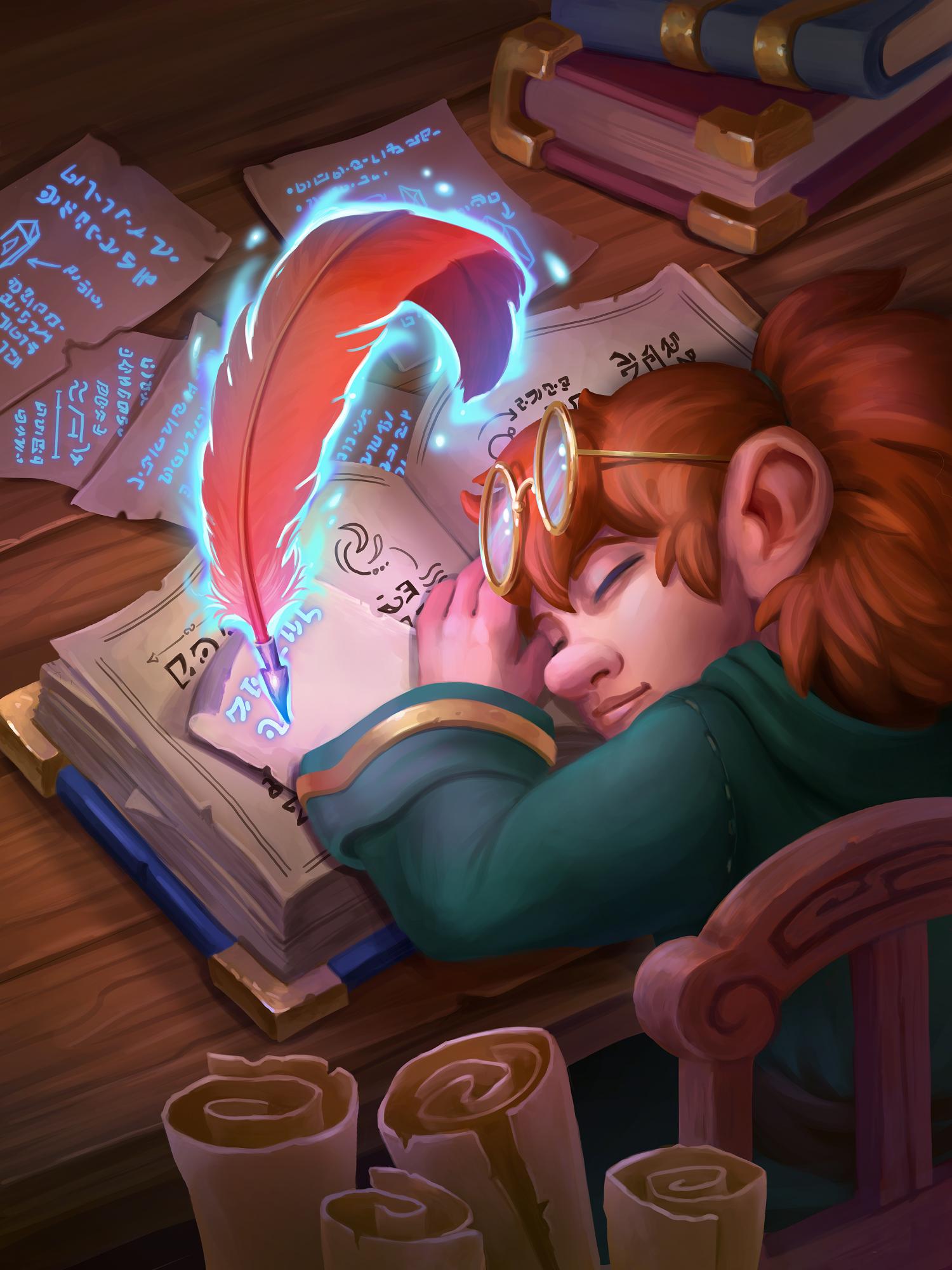Sleeping Gnome | Hearthstone Fan Art | April Borchelt