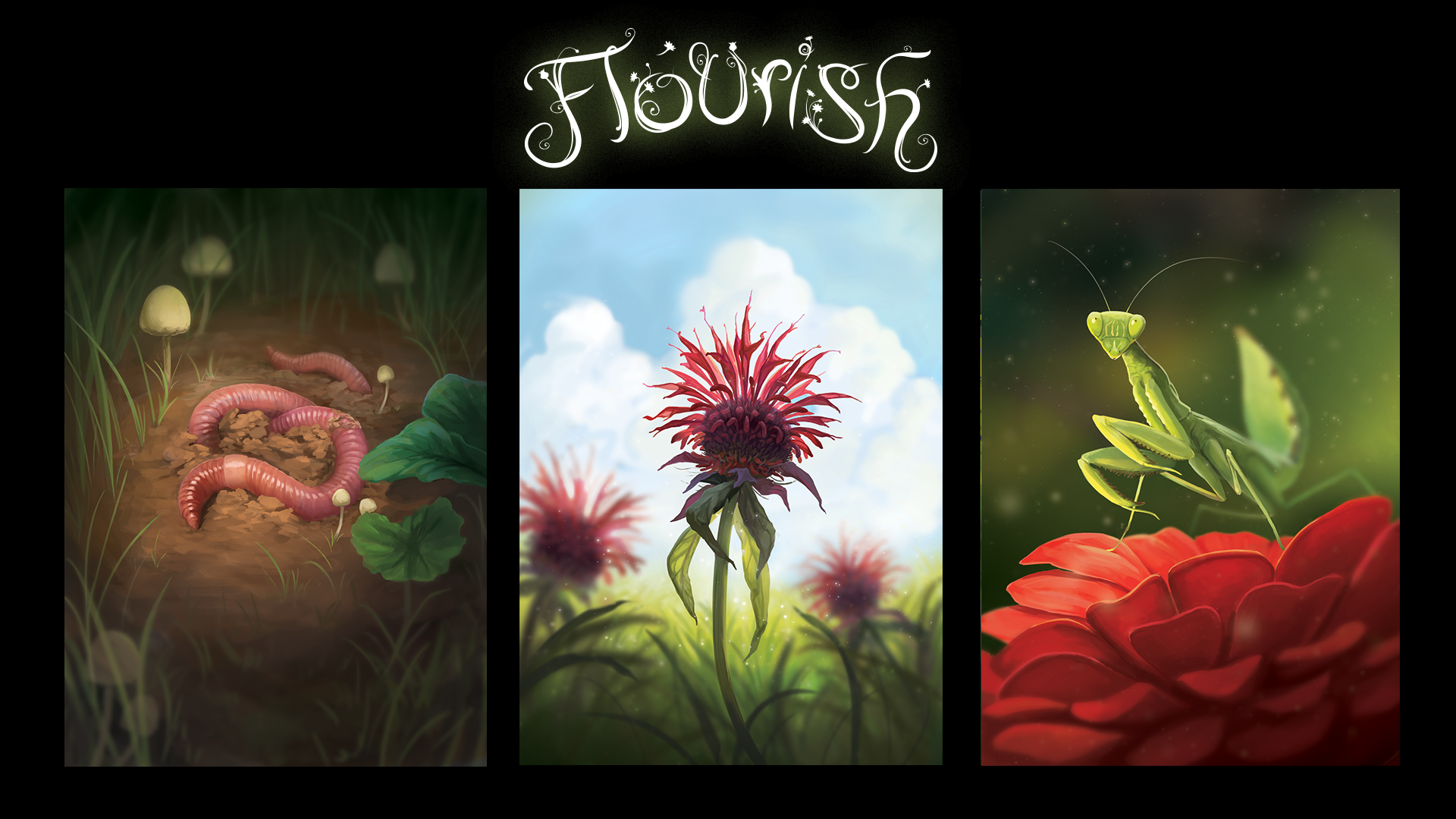 Board Game Art | Flourish | Starling Games