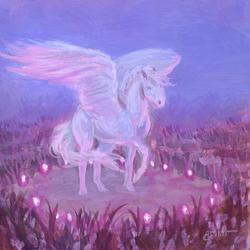 Mini Pegasus Study Magic Circle | April Borchelt