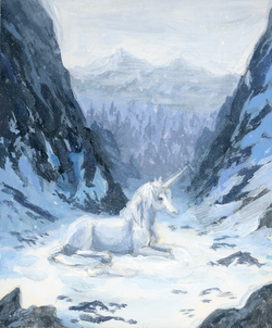 Mini Unicorn Study Snow Unicorn | April Borchelt