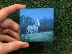Mini Unicorn Study Starry Night | April Borchelt