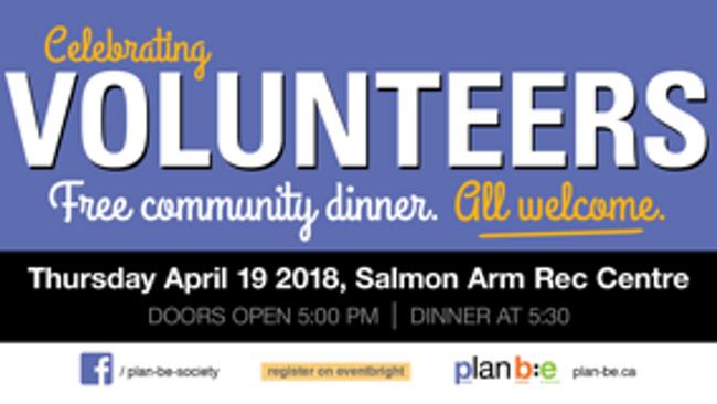 2nd Annual FREE Volunteer Dinner