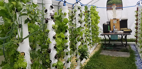 Mobile Green house cells up to 32 towers whit a capacity of 1088 plants