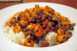 Red Beans & Rice with Sshrimp.