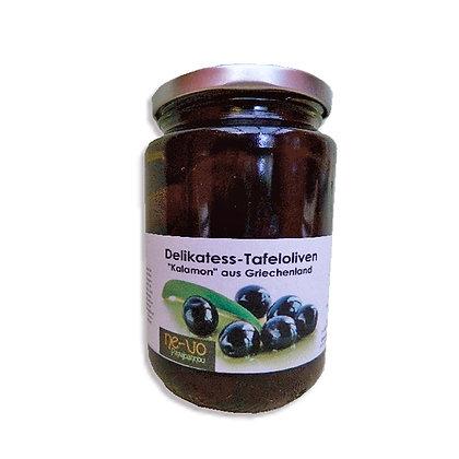 """Delikatess-Speiseoliven """"Kalamon"""" in Olivenöl, im Glas zu 240 g im 4-er-Pack"""
