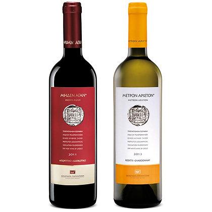 Mixpaket Papantonis Rot- und Weißwein, Karton zu 6 Flaschen