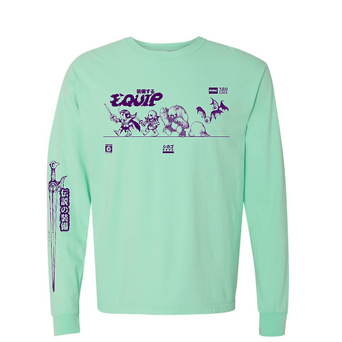 Equip Long Sleeve Tour Tee (Mint w/Purple Ink)