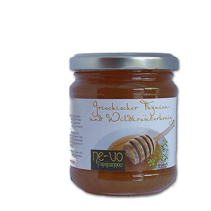 Naturreiner Thymian-Wildkräuter-Honig aus der Mani