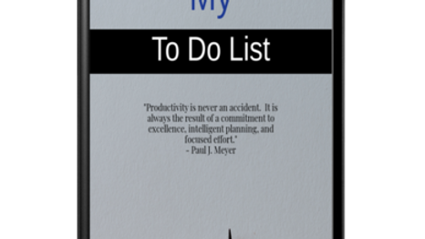 My To Do List Printable Notepad