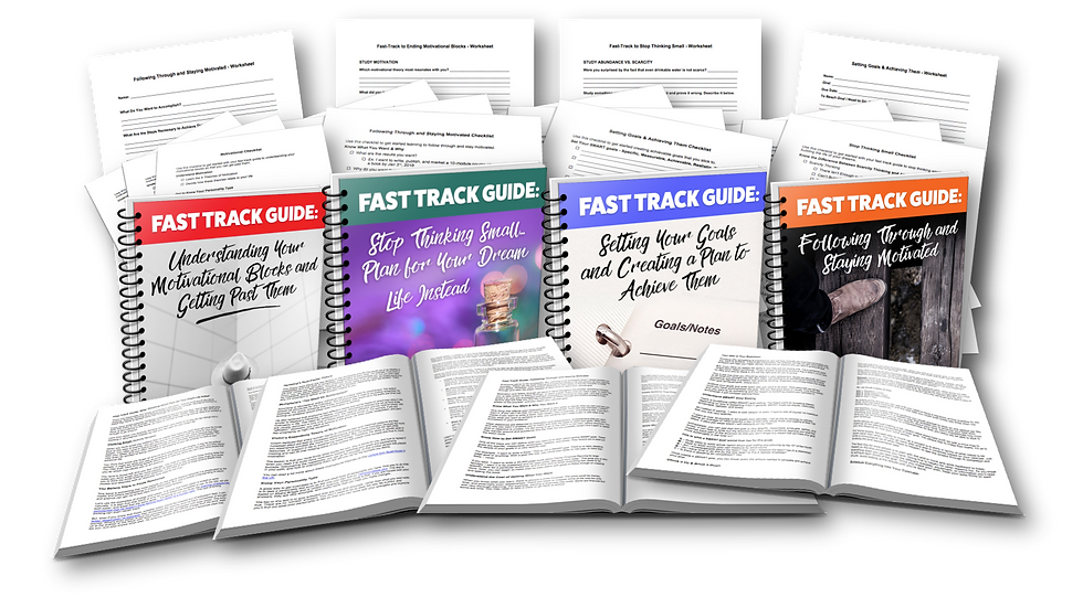 4-Week Course: Your Fast-Track Guide to Getting Motivated & Achieving Your Goal