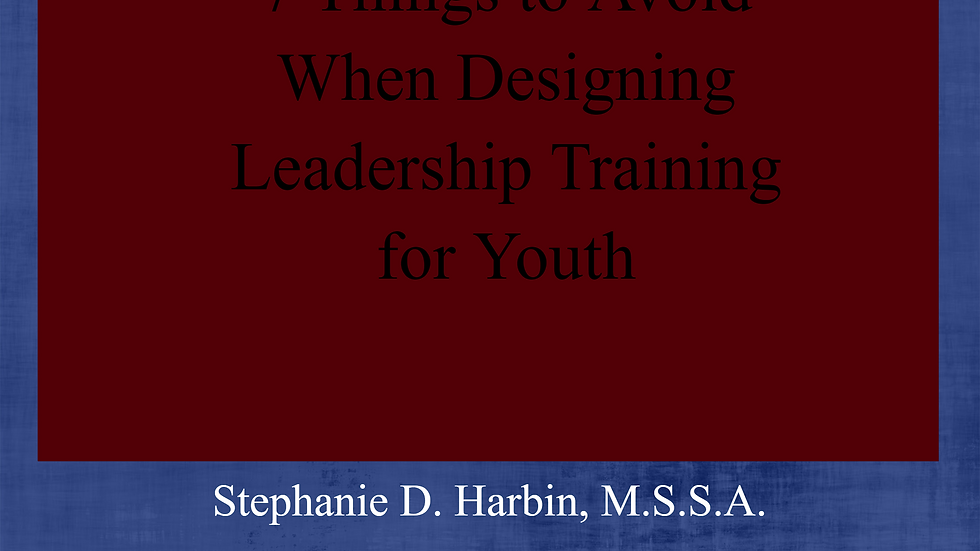 7 Things to Avoid When Designing Leadership Training for Youth