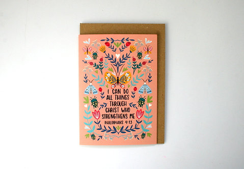 I Can Do Folk Art Greetings Card WS