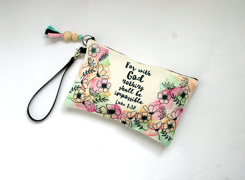 Flora Linen Pencil Case WS