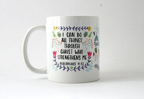 I Can Do All Things Folk Mug