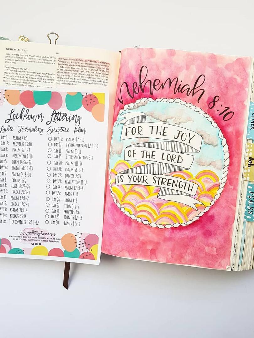 Free Lockdown Bible Journaling Printable Plan