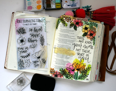 Bloom Bible Journaling Stamps WS