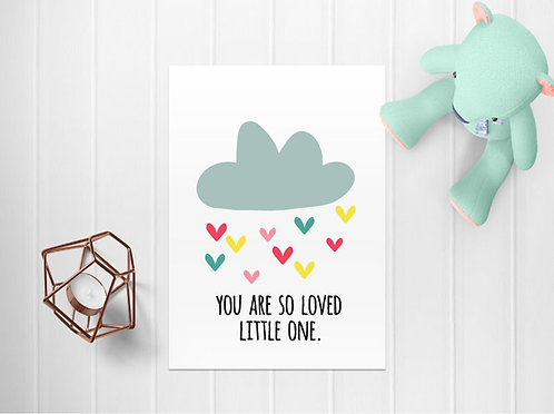 Loved Little One A4 Print