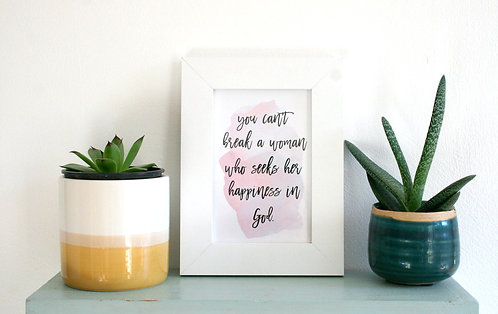 Happiness In God 6x4 Framed Print