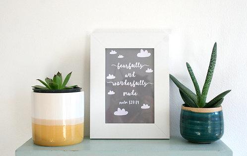 Wonderfully Made Grey 6 x 4 Framed Print WS