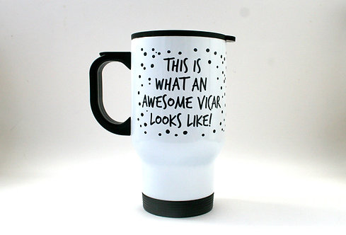 Awesome Vicar Travel Mug