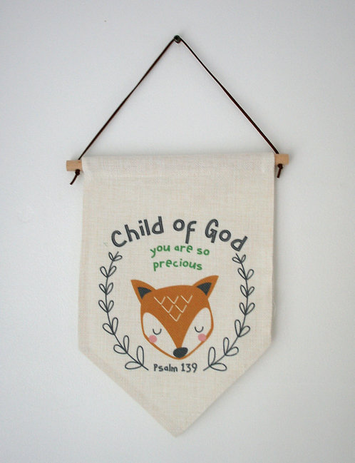 Child Of God Fox Wall Hanging