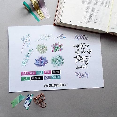 Thirsty Journaling Printable
