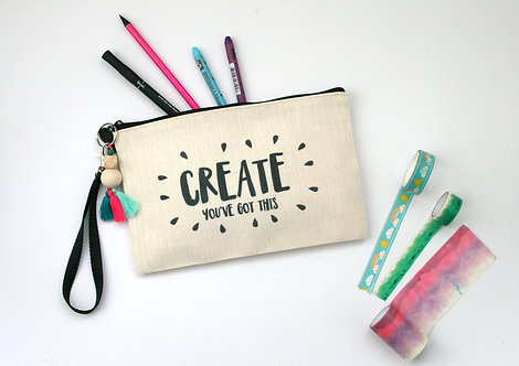 Create Linen Pencil Case
