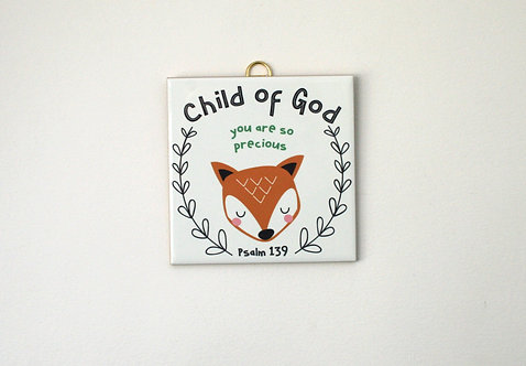 Child Of God Fox Tile WS
