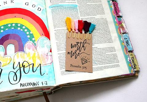Rainbow Bible Journaling Tassels
