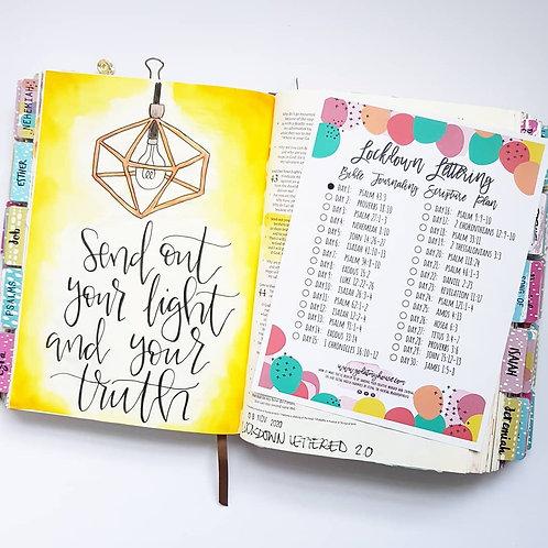 Lockdown Lettered Bible Journaling Scripture Plan Free Printable