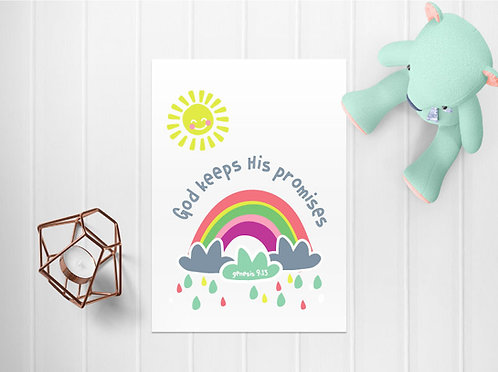 Kids Rainbow Downloadable A4 Print