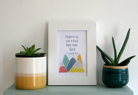 Kids Mountains 6X4 Framed Print WS