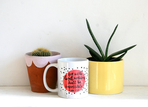 Nothing is Impossible Spotty Mug WS