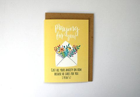 Praying For You Spring Greetings Card