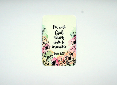 Floral With God Fridge Magnet