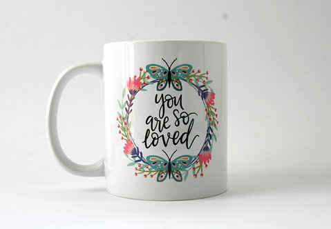 You Are So Loved Folk Art Mug