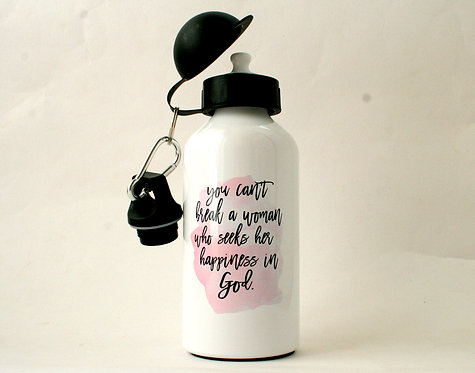 Happiness Metal Water Bottle