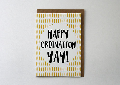 Happy Ordination Greetings Card WS