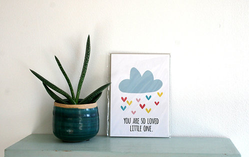 You Are So Loved Cloud Mini Print