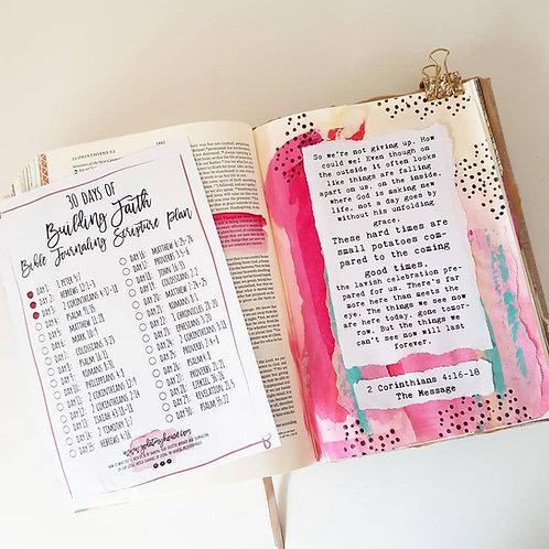 30 Days Of God's Promises Bible Journaling Scripture Plan Free Printable