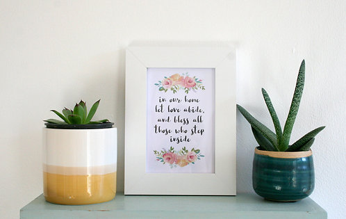 In Our Home 6 x 4 Framed Print