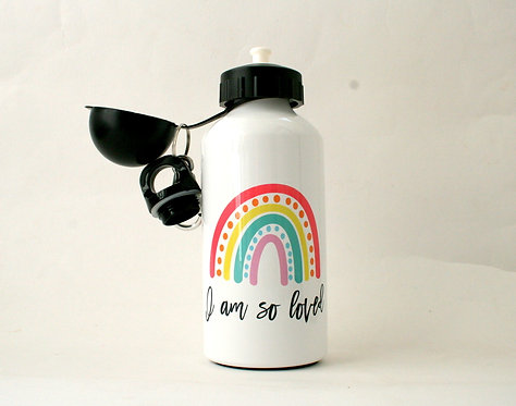 So Loved Rainbow Metal Water Bottle WS