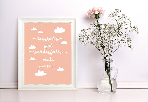 A4 Wonderfully Made Blush Print WS