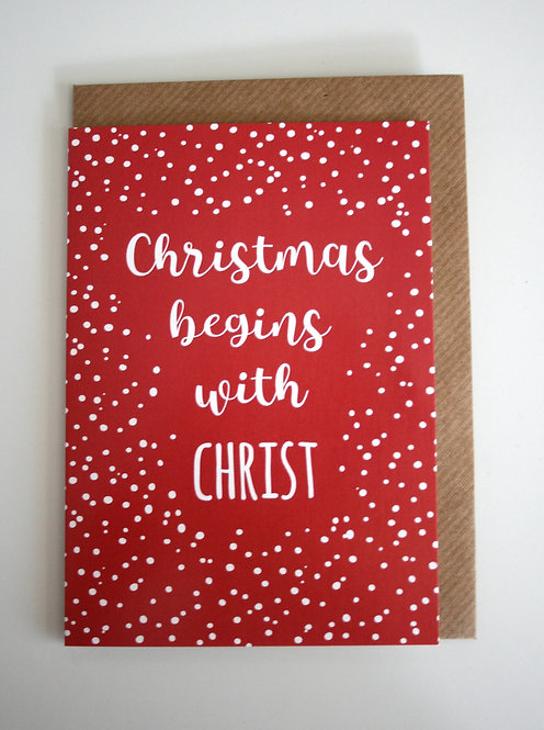 Christmas Begins Greetings Card