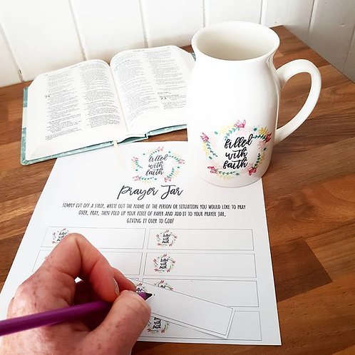 Prayer Jug Resource Free Printable