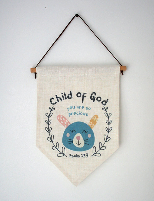 Child Of God Bunny Wall Hanging