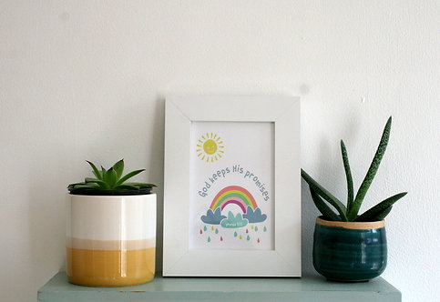 Rainbow 6X4 Framed Print WS