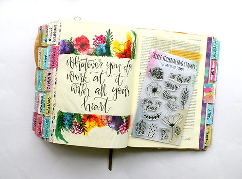 Bloom Bible Journaling Stamps