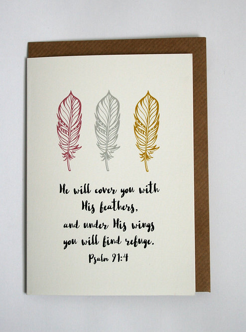His Feathers Greetings Card WS